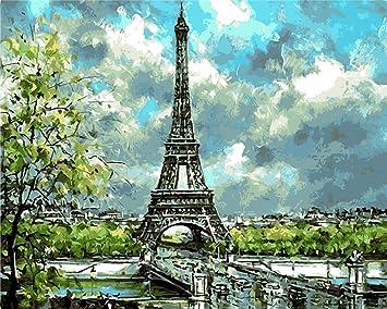 Yeesam Art Neuheiten Malen Nach Zahlen Erwachsene Kinder Eiffelturm