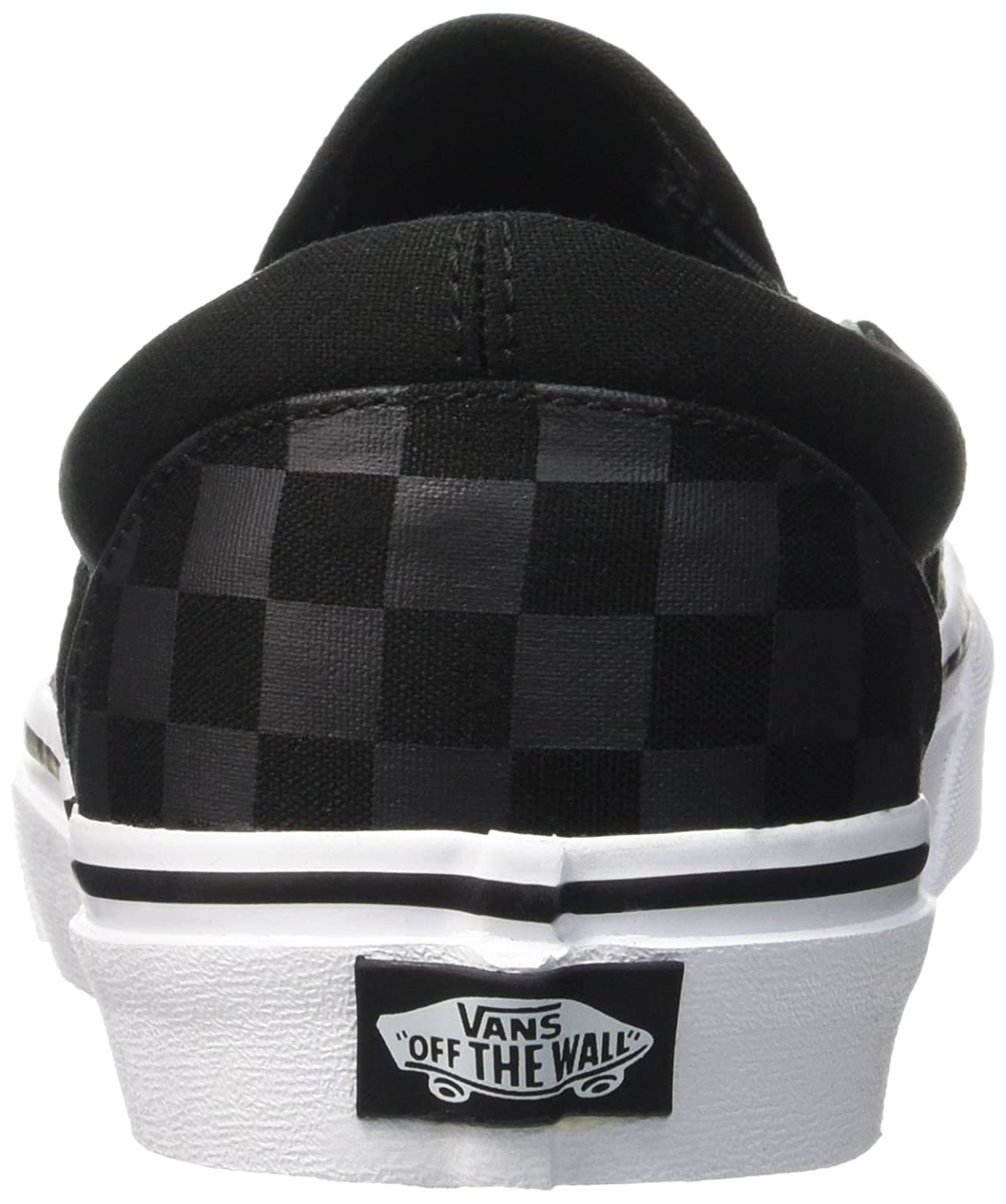 vans shoes black slip on. amazon.com | vans classic slip-on (black/black checkerboard) men\u0027s skate shoes skateboarding black slip on