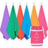 Microfibre Towel & Travel Pouch - Quick Dry, Lightweight, Compact (Extra Large 200x90cm, Large 160x80cm, Small 100x50cm) for travel, yoga, gym, sports, camping towel - As Seen On Dragons' Den