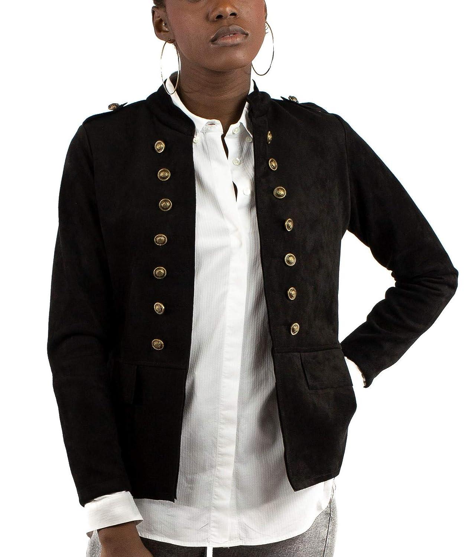 Mers Style - Chaqueta Cazadora Militar de Ante, para Mujer