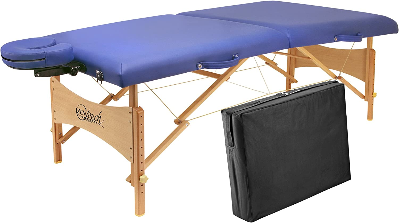 Master Massage Brady Lightweight Portable Massage Table, Sky Blue, 27