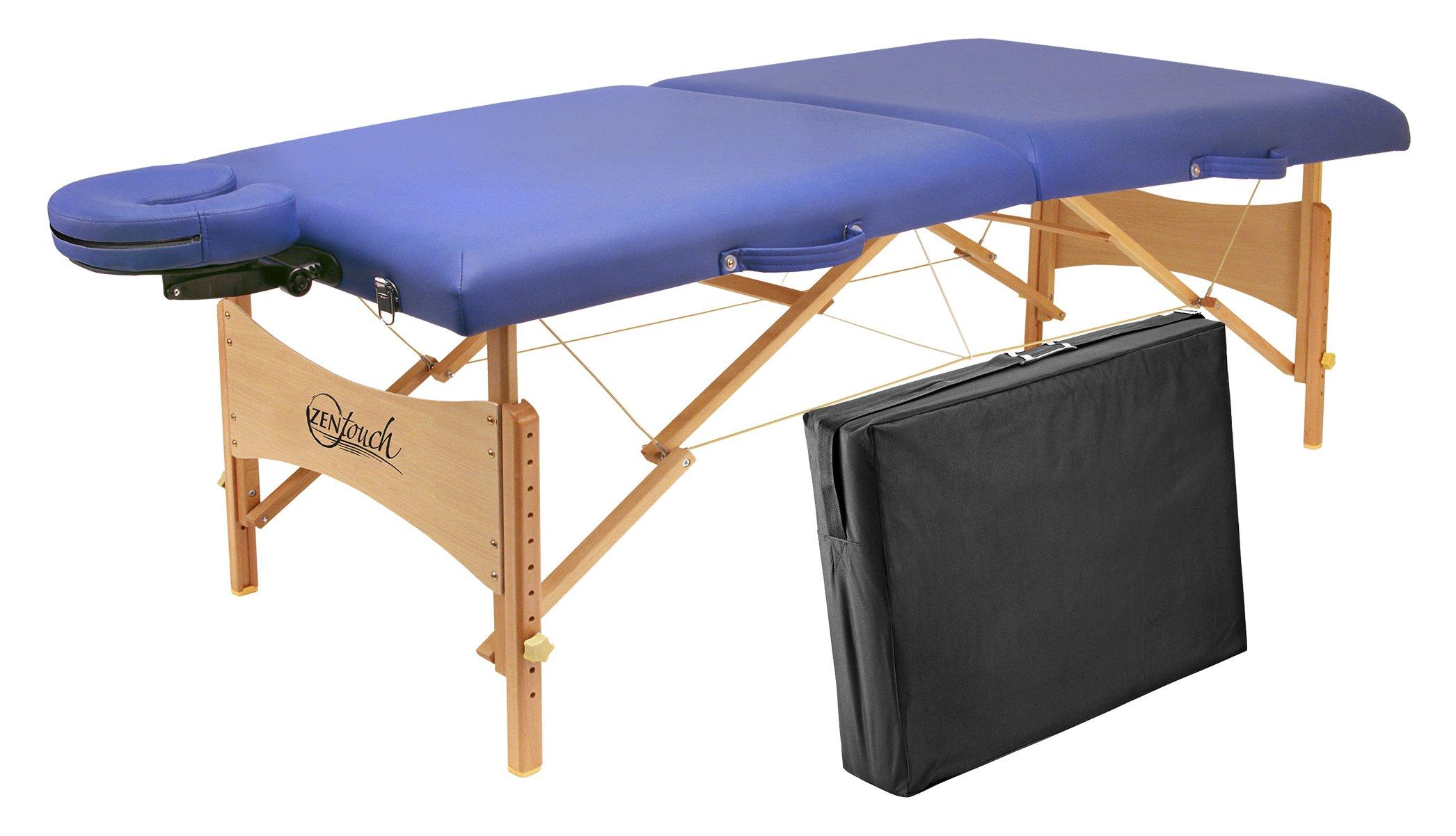 Master Massage Brady Lightweight Portable Massage Table, Sky Blue, 27''