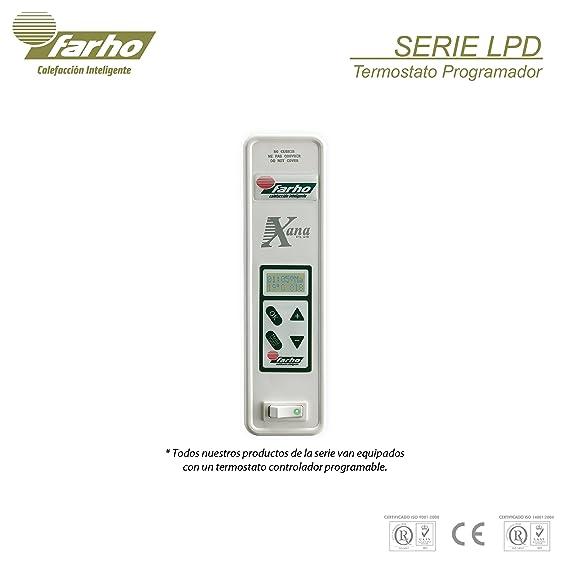 farho LPD - Radiador Eléctrico de bajo Consumo 825 W, Digital Programable y con opción WiFi - Emisor Térmico Especial para bajo Ventanas - 20 AÑOS DE ...