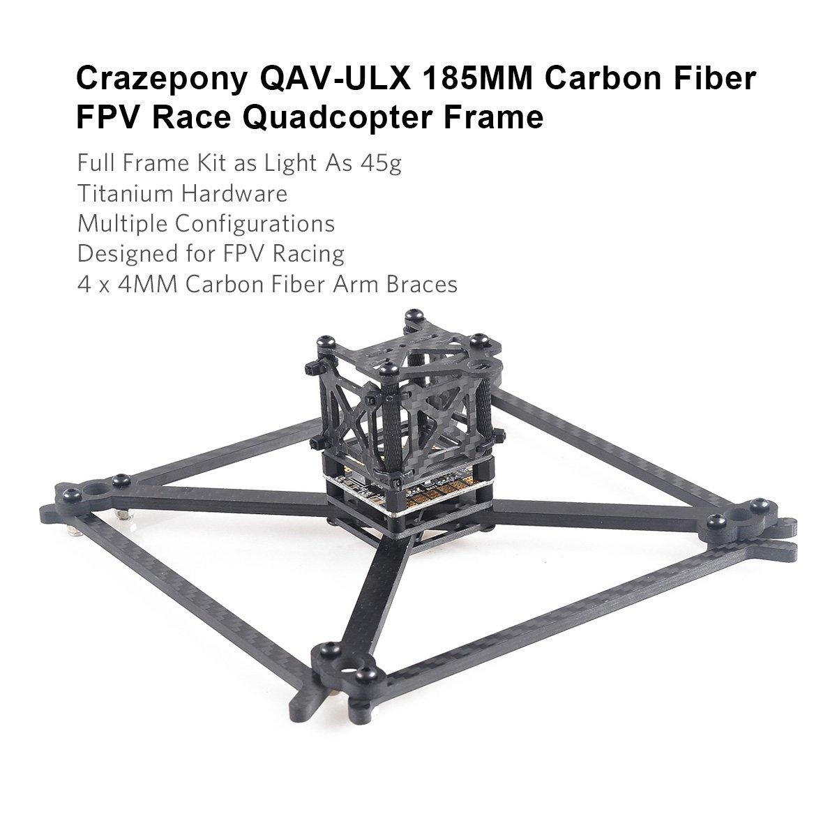 Crazepony Qav Ulx 185mm Carbon Fiber Fpv Race Quadcopter Wiring Configuration Frame Like 160 X210 X180 Etc4mm Toys Games