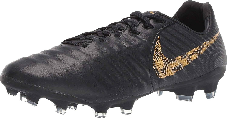 Nike Legend 7 PRO CA FG Mens Soccer Shoes BQ7194 077_7.5 BlackMTLC Vivid Gold