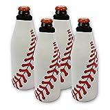 Baseball Beer 4 Bottle Can Cooler Neoprene