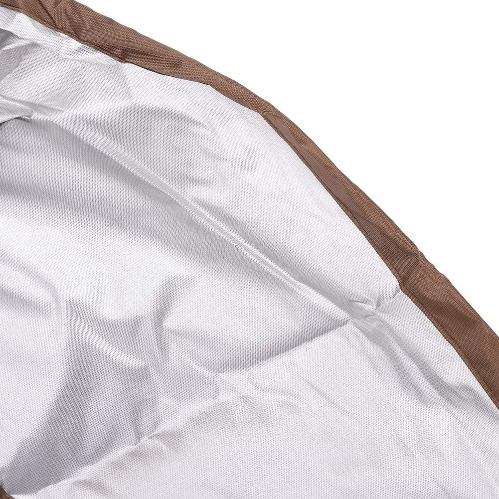 Leggera Fabater Copertura per mobili Antipolvere Protezione per mobili Impermeabile Rotonda con Fori per ombrellone Protezione per mobili Round 180 * 60cm Pieghevole per Esterni
