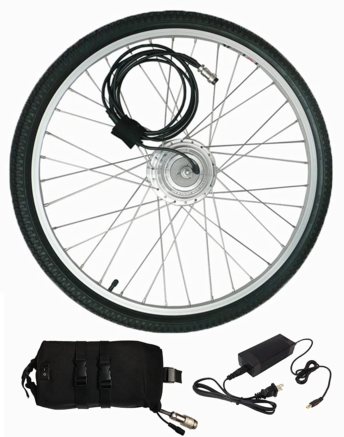 71NnddUjJPL._SL1500_ amazon com 36v350w hub motor electric bike conversion kit lcd  at aneh.co