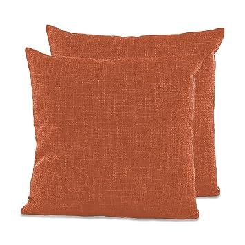 Artoid Conch Color Sólido Lino Transpirable | Funda de Cojín Decorativo Cuadrado | Cremallera de Longitud Completa | Duradero Decoración para Sofá ...