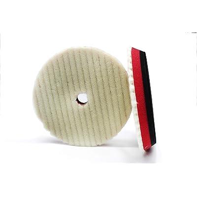 "Maxshine DA Wool Buffing Polishing Pad, Dia: 6""/150mm: Automotive"