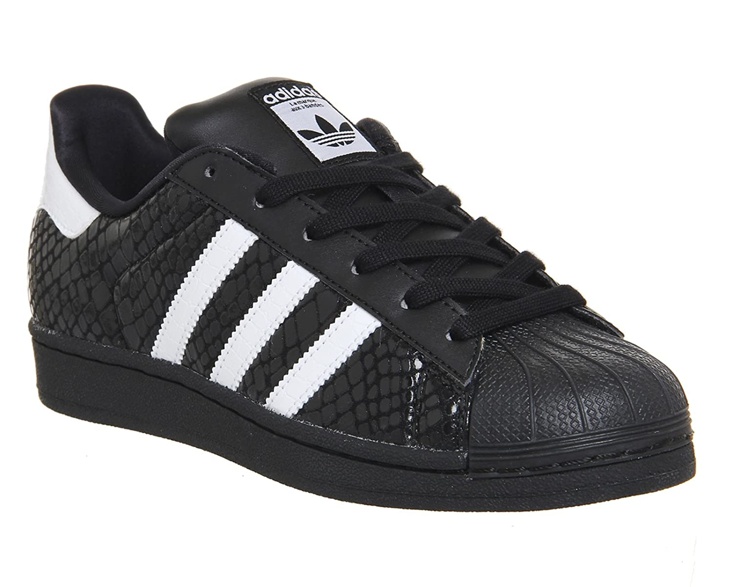 adidas superstar black white snake