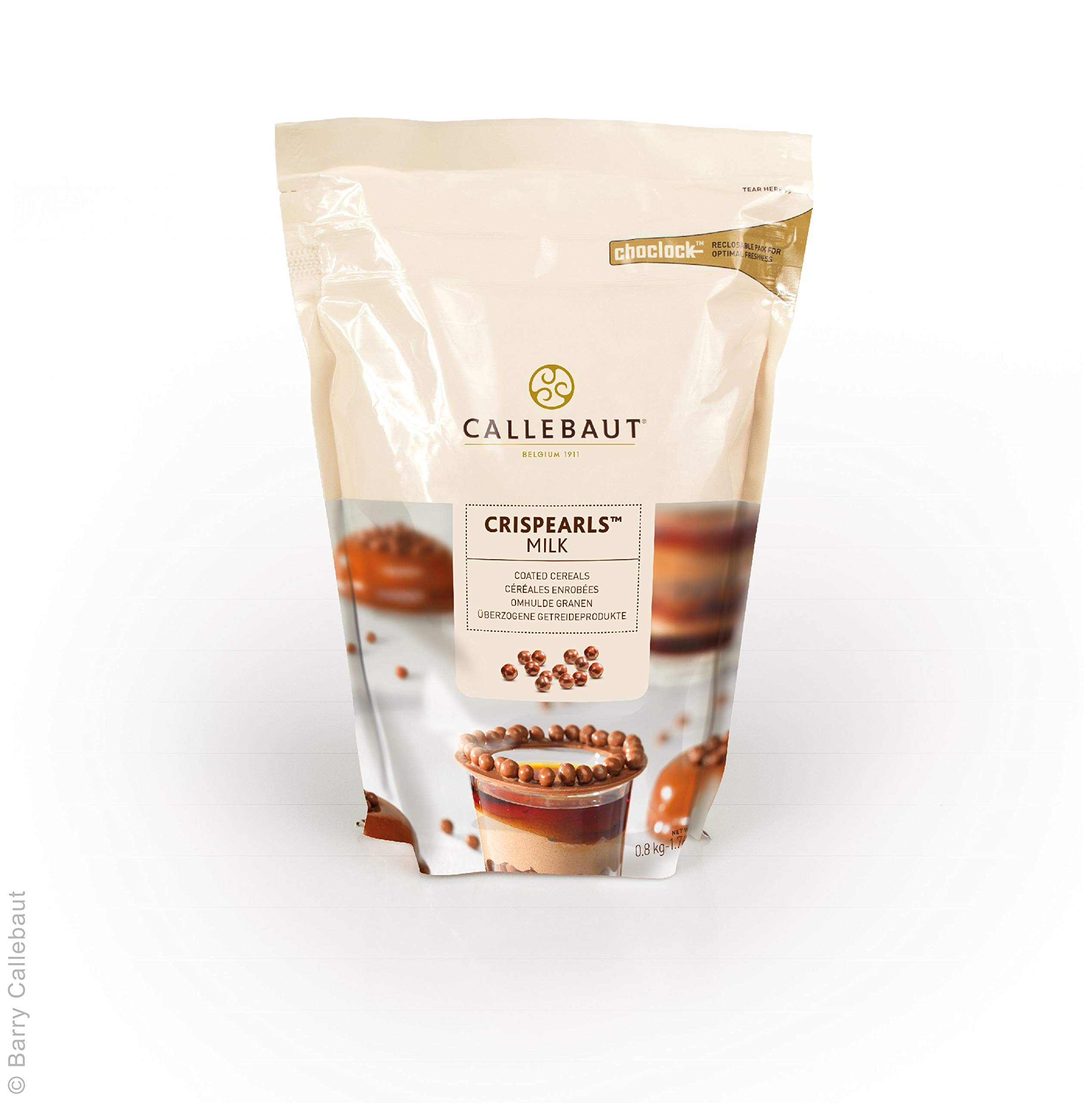 Callebaut Milk Chocolate Crispearls - Toasted Biscuit Pearls Coated in Milk Chocolate 800g