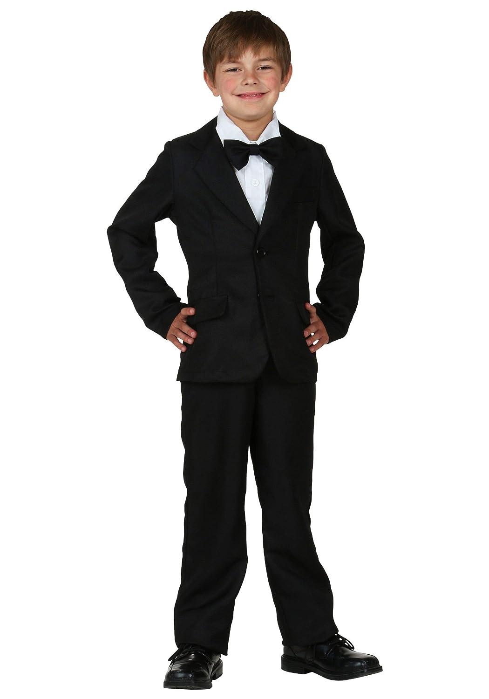 Diversión trajes niños niño traje negro: Amazon.es: Juguetes y juegos