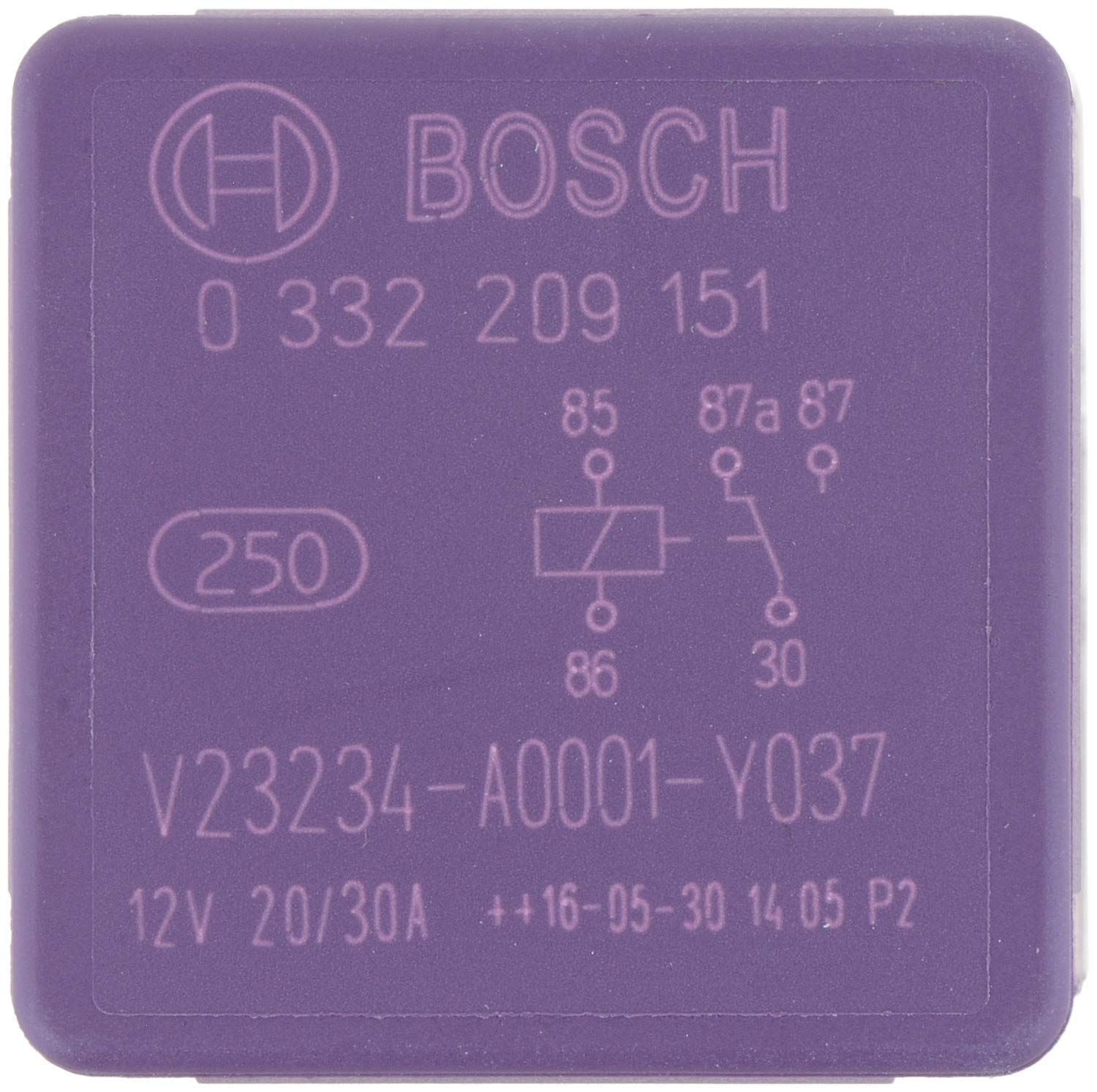 0332207107 SPDT 1pc Bosch Automotive Relay 5 Pin Micro 10//20Amps