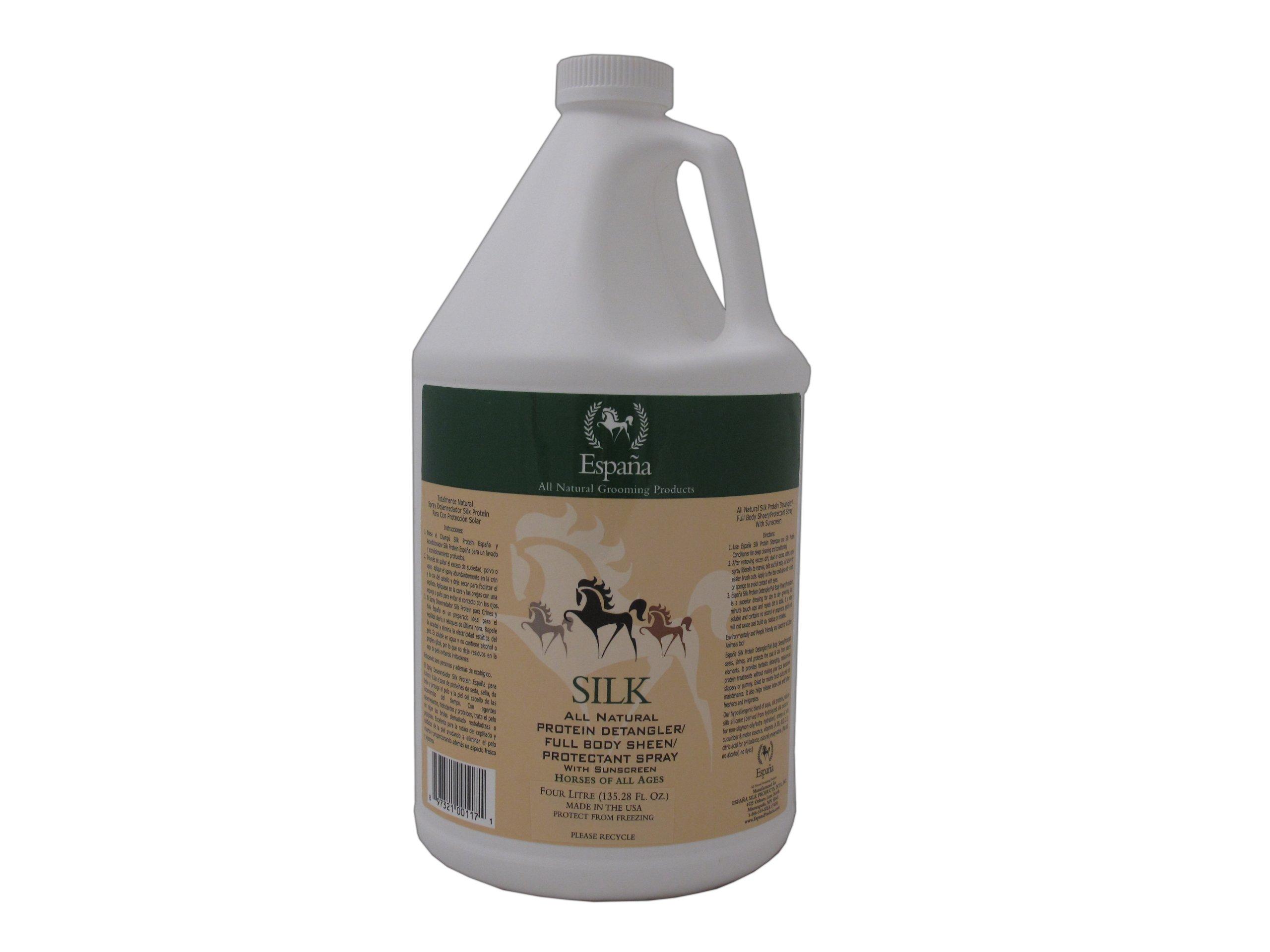 Espana Silk ESP1125E Specially Formulated Silk Protein Detangler for Horses, 135.28-Ounce