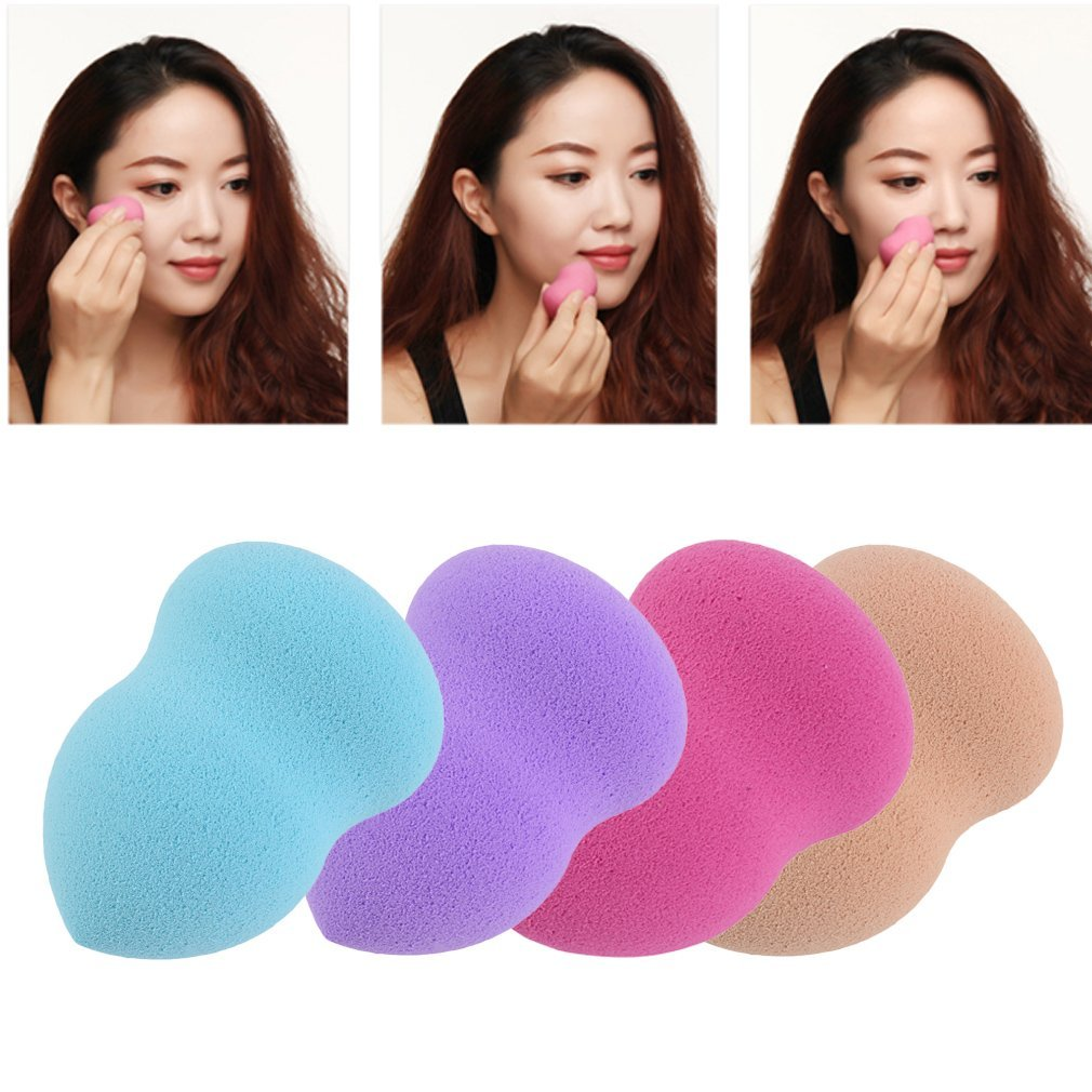 Maquillaje base esponja licuadora mezcla impecable soplo polvo suave belleza Hilai