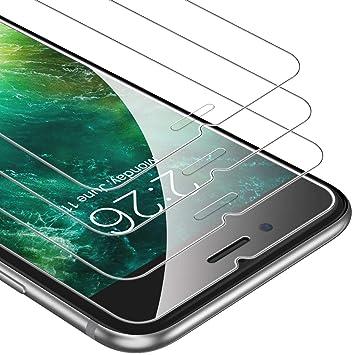 639257dfa15 UNBREAKcable Cristal Templado iPhone 6 Plus 6s Plus [3-Unidades], 9H Dureza  y Curvo Edge 2,5D Protector Pantalla, Anti-Ralladuras y Anti-Burbujas HD  Vidrio ...