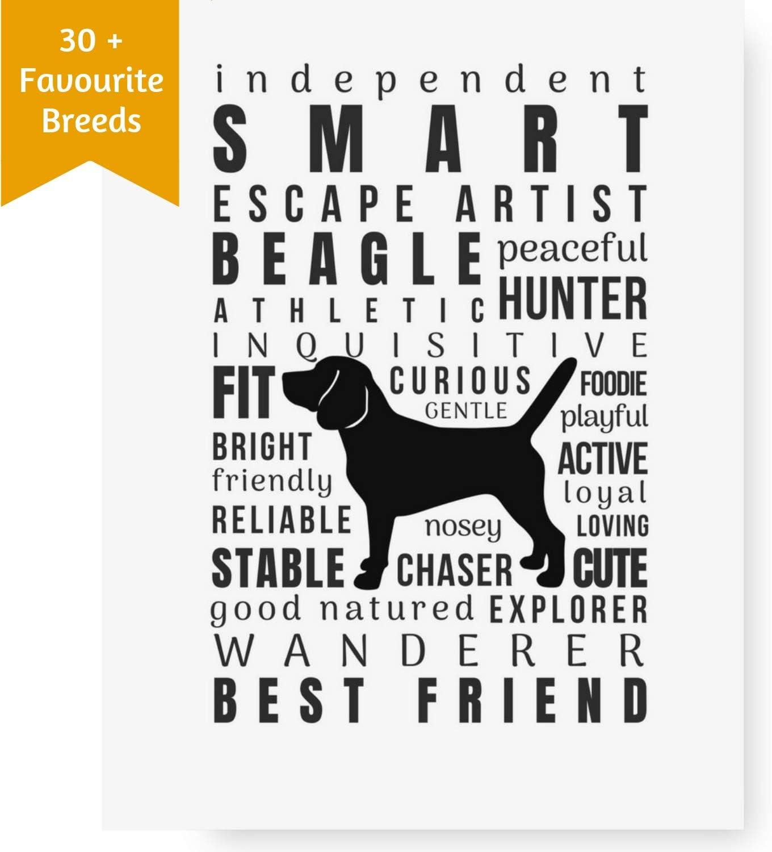 Great Gift for Dog Lovers Blue Dachshund Artwork 11x14 Unframed Art Print