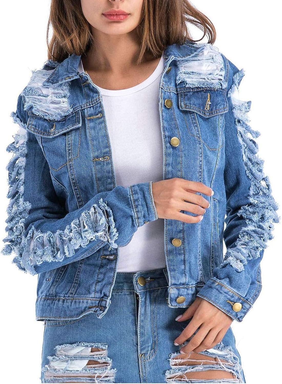 Bestsaly 2019 Jean Jacket Sleeveless Denim Jacket Outwear
