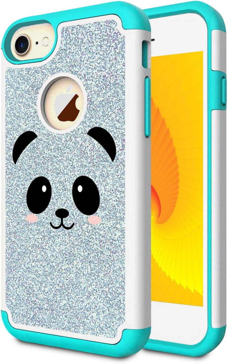 iPhone 7 Case, iPhone 8 Case, Skyfree Shockproof Heavy Duty Protection Hard PC & Soft TPU Hybrid Dual Layer Protective Phone Case for Apple iPhone 7/iPhone 8,Cute Panda Face