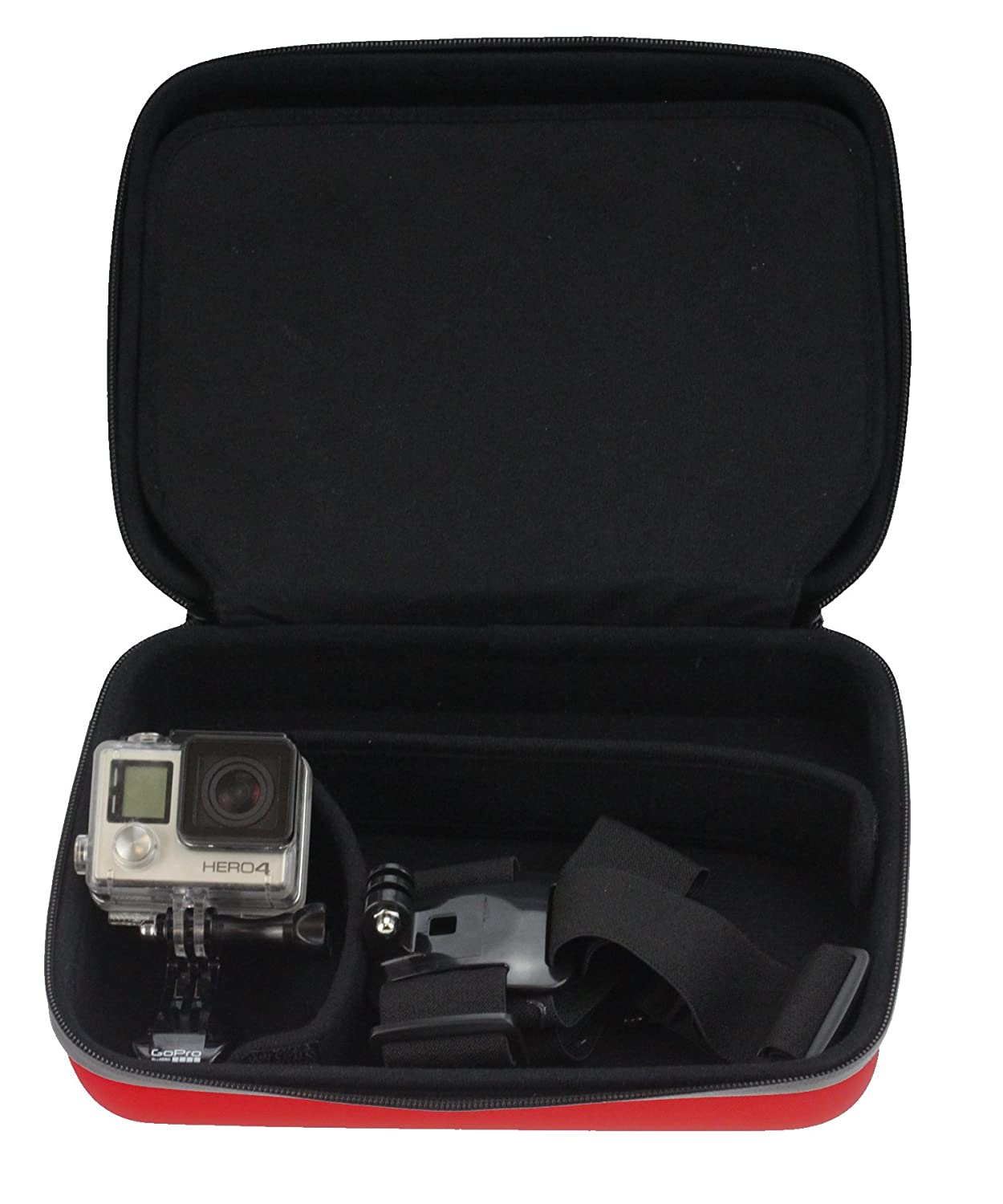 Navitech 60-in-1 Action Camera Accessories Combo Kit with EVA Case Compatible with The AEE LYFE Shadow Action Camera