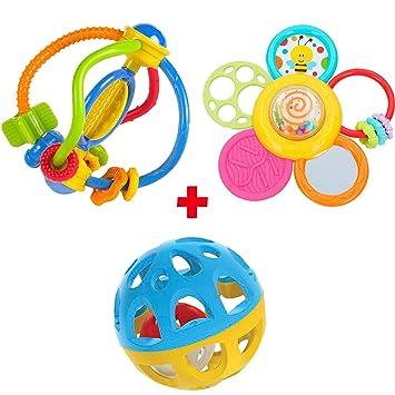 Pack Bola con sonido, Mordedor Sensorial y Mordedor Espiral Daisy ...
