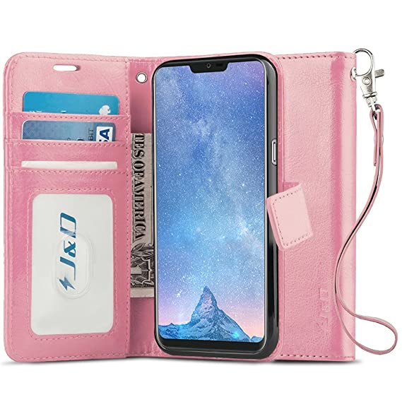 meet c8b1a 5620e J&D Case Compatible for LG G7 ThinQ/LG G7 Case, [Wallet Stand] [Slim Fit]  Heavy Duty Protective Shock Resistant Flip Cover Wallet Case for LG G7 ...