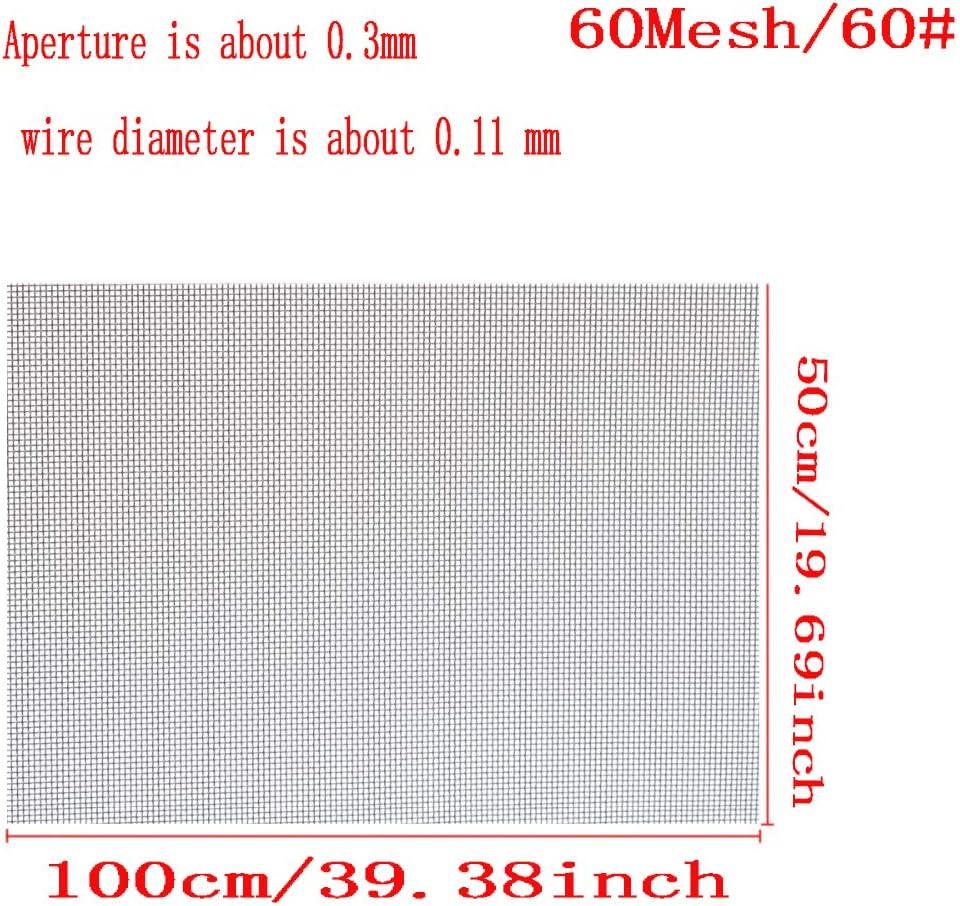 SOFIALXC Malla De Alambre Malla Acero Inoxidable 60 Mesh Longitud 100cm para Insectos Roedor Filtro Grill Tomas De Aire-20cm Wide 5pcs