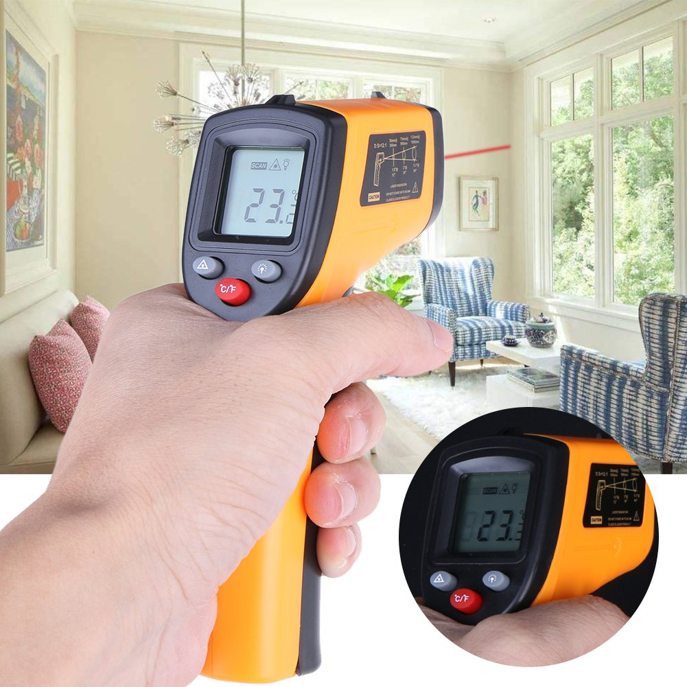 Best Garden Tools Digital GM320 Infrared Thermometer Non Contact Pyrometer IR Laser Point Gun with Backlight -50~380degree For Industial Use