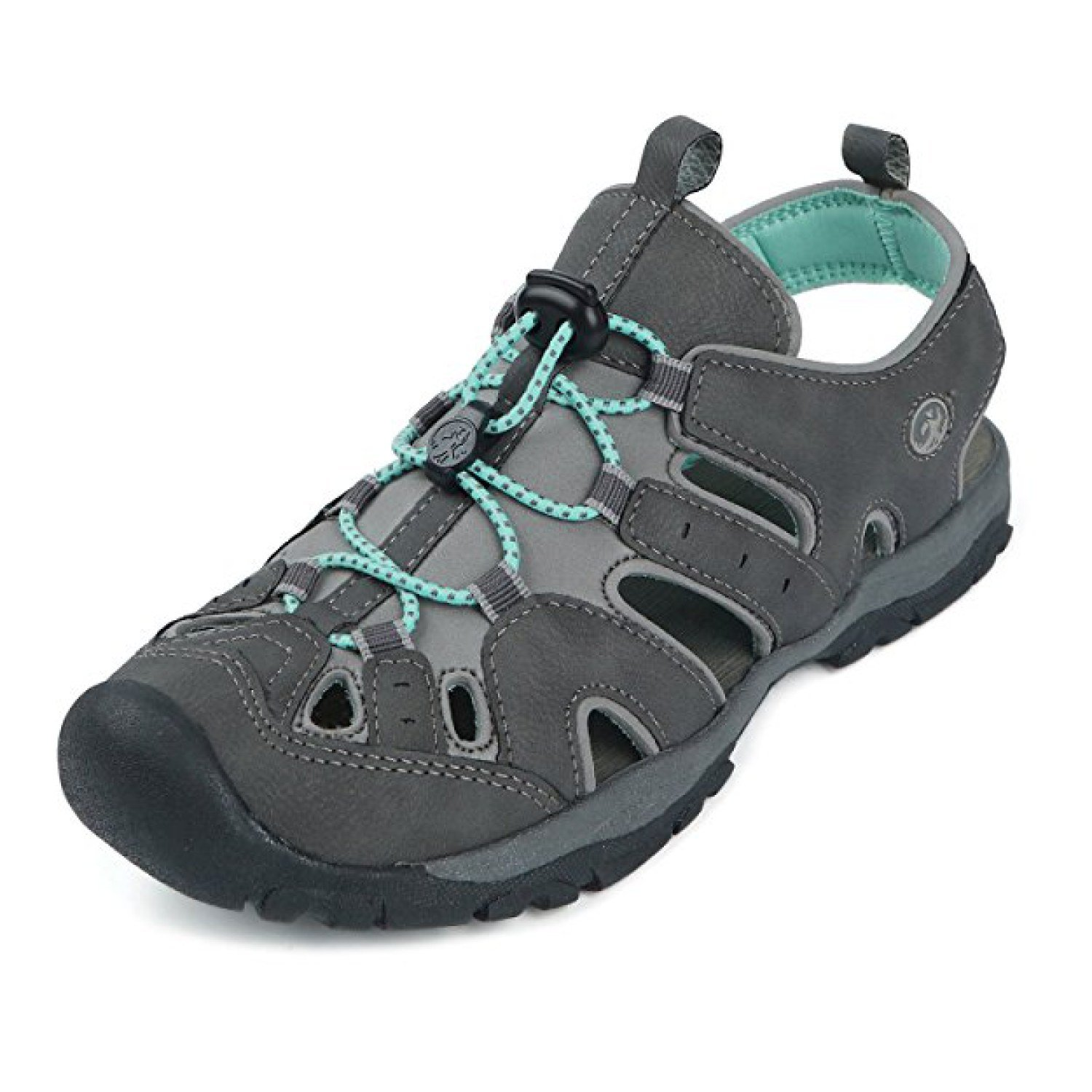 Northside Women's Burke II Athletic Summer Sandal, Dk Gray/Aqua, 6 B(M) US; with a Waterproof Wet Dry Bag
