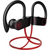 Bluetooth Headphones, Otium Wireless Sports Earbuds,Waterproof IPX7 w/Mic, HD Stereo Sweatproof in-Ear Earphones, Case, Fast Pairing Gym Running Workout, 8-9 Hrs Battery Headsets[Upgraded Version]