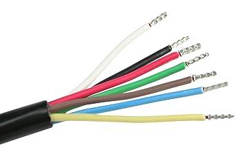 as - Schwabe 10 Meter Kfz Leitung, 7 polig, Anhänger-Kabel für PKW ...