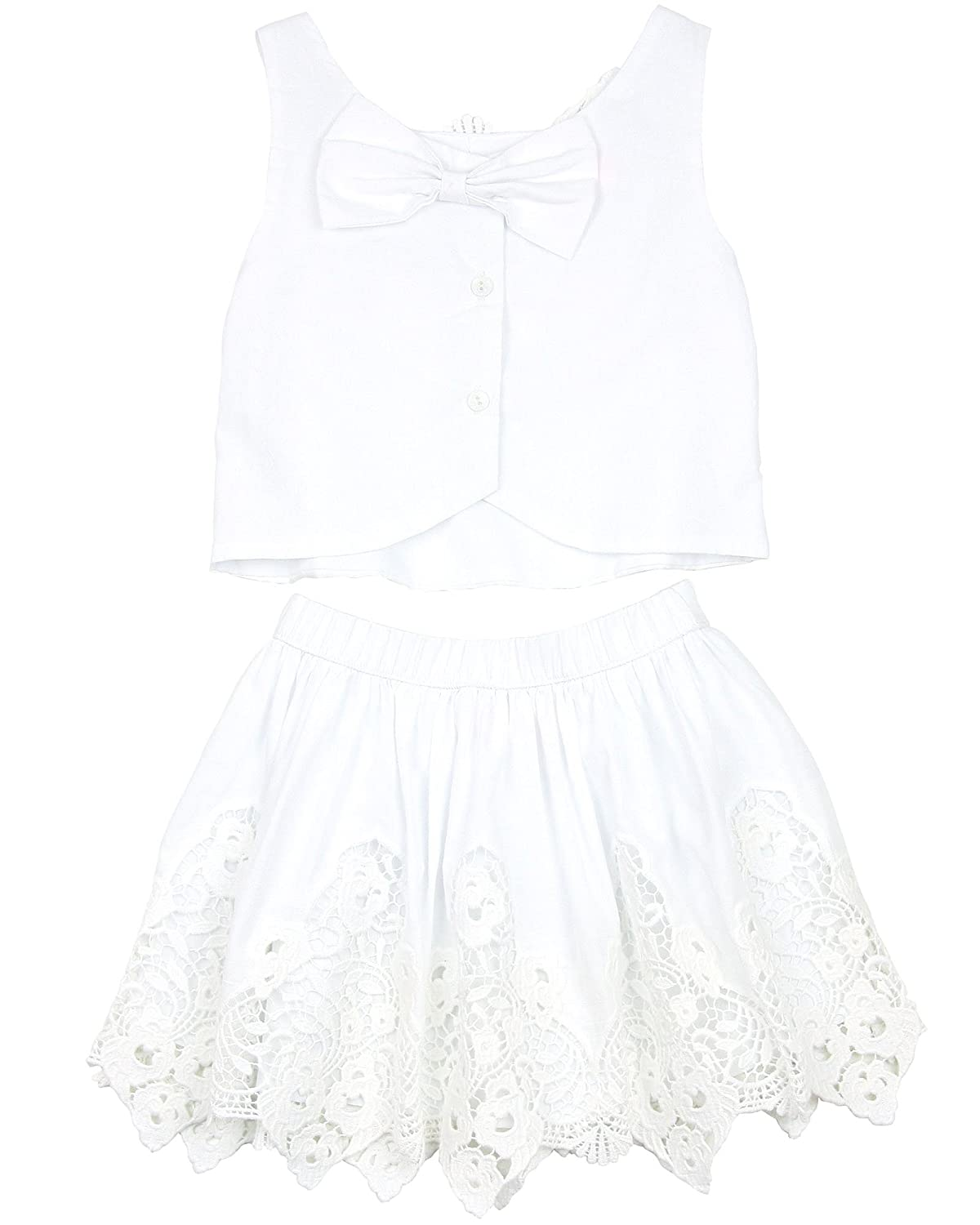 Biscotti Girls Skirt and Top Summer Whites Sizes 4-12