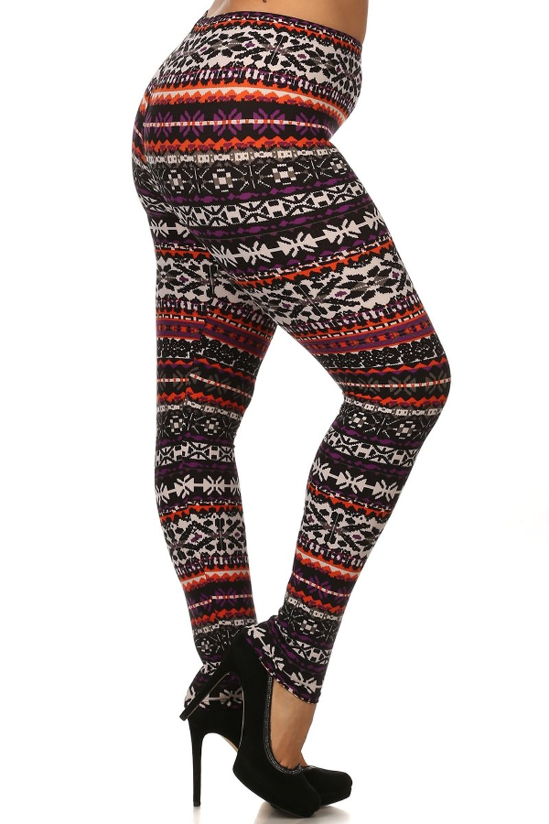 Leggings Depot Ultra Soft Women's Plus Seasonal Printed Leggings 71NnpPngCrL