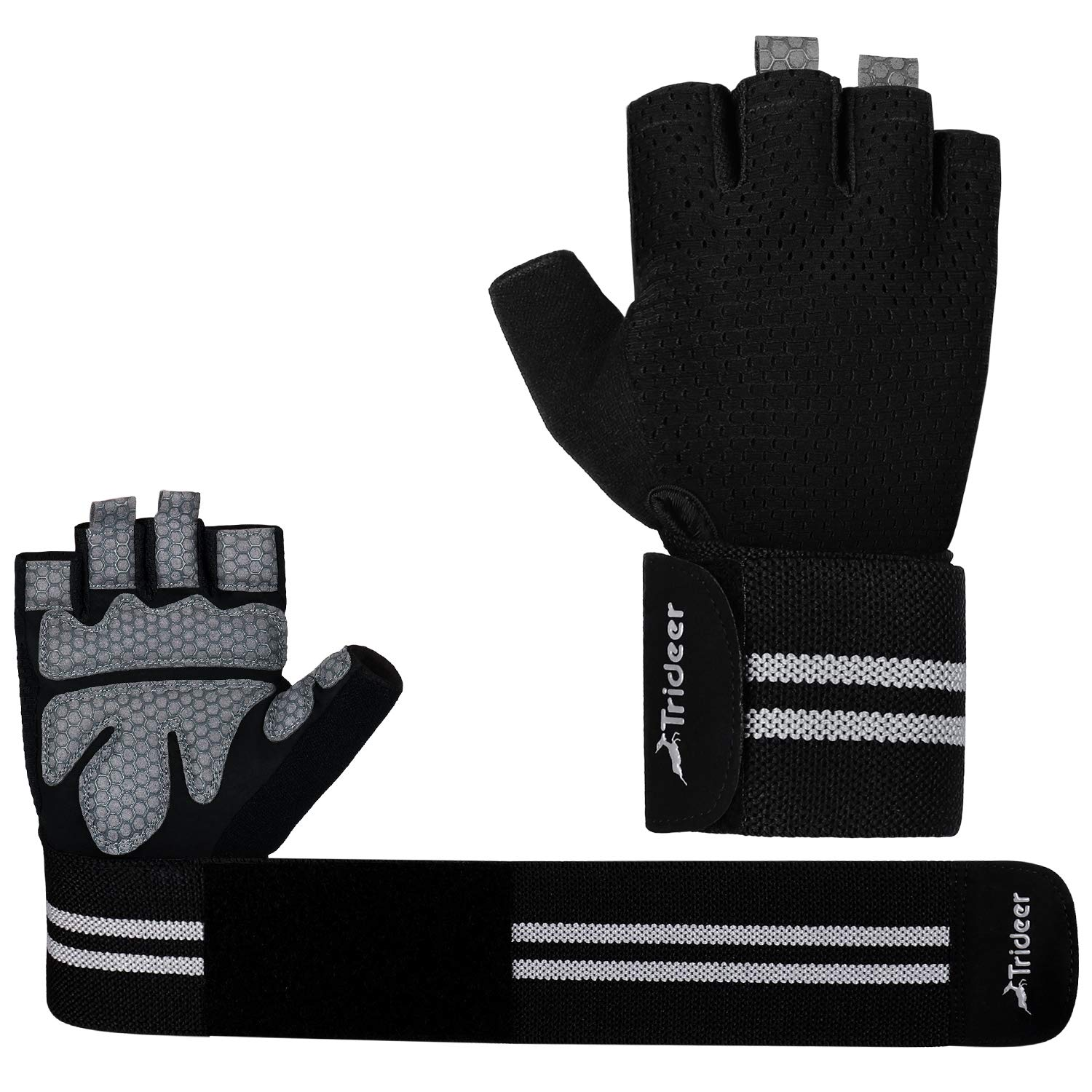 Trideer Padded Crossfit Gloves