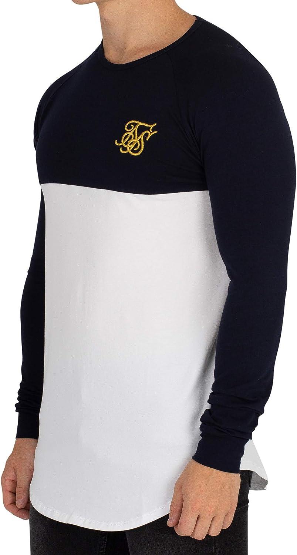Sik Silk Hombre Camiseta de Gimnasio Raglan Longsleeved, Blanco: Amazon.es: Ropa y accesorios