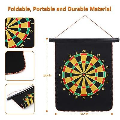 """38cm 15/"""" CLASSIC DARTBOARD Wall Mount Bracket Double Side Fun 2in1 Set Gift"""