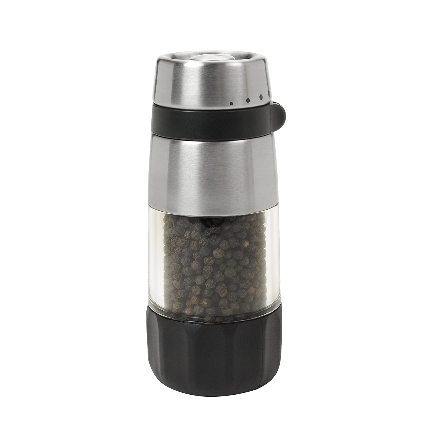 OXO Good Grips 1140700BK Pepper Grinder (Silver)
