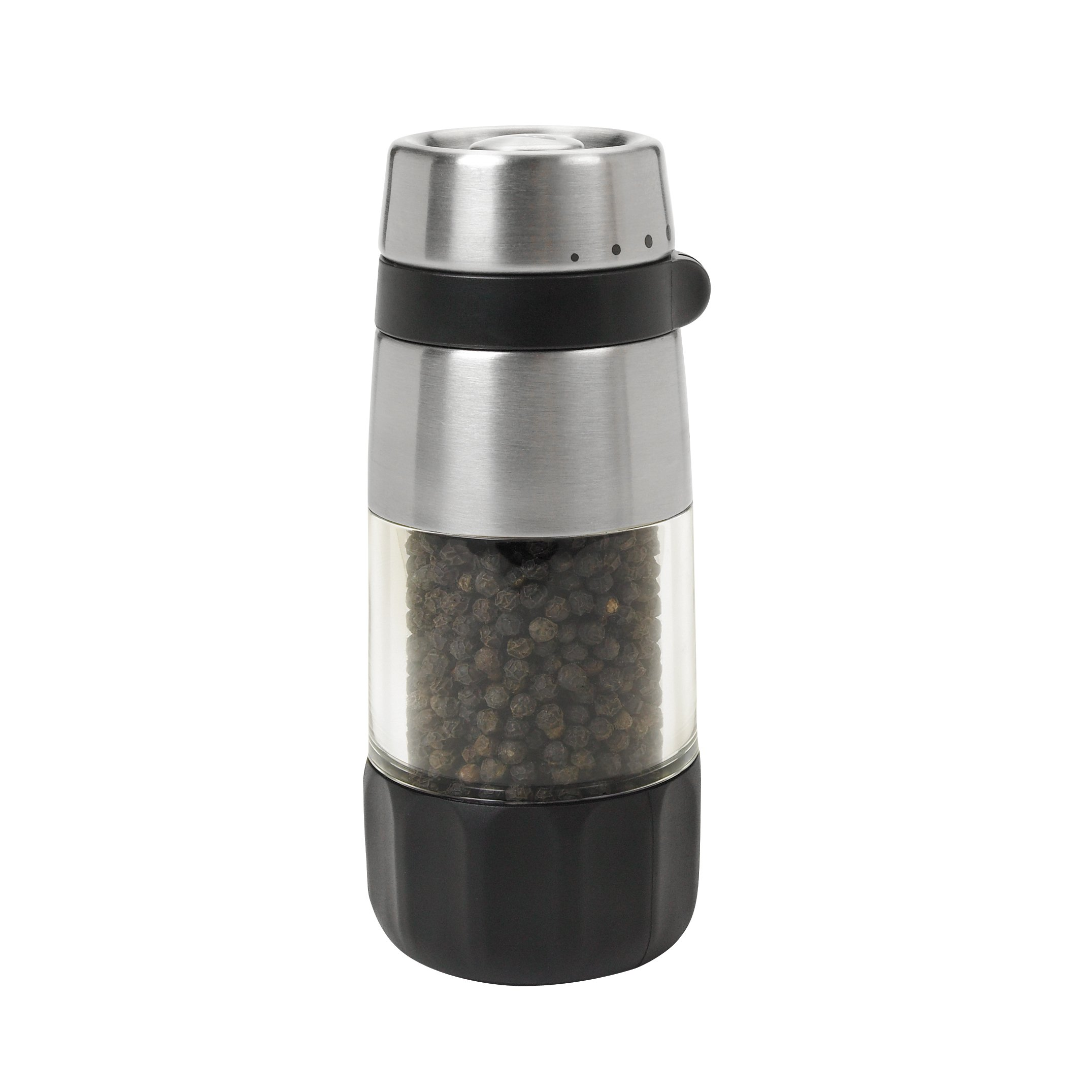 OXO Good Grips Accent Mess Free Pepper Grinder, Stainless Steel by OXO