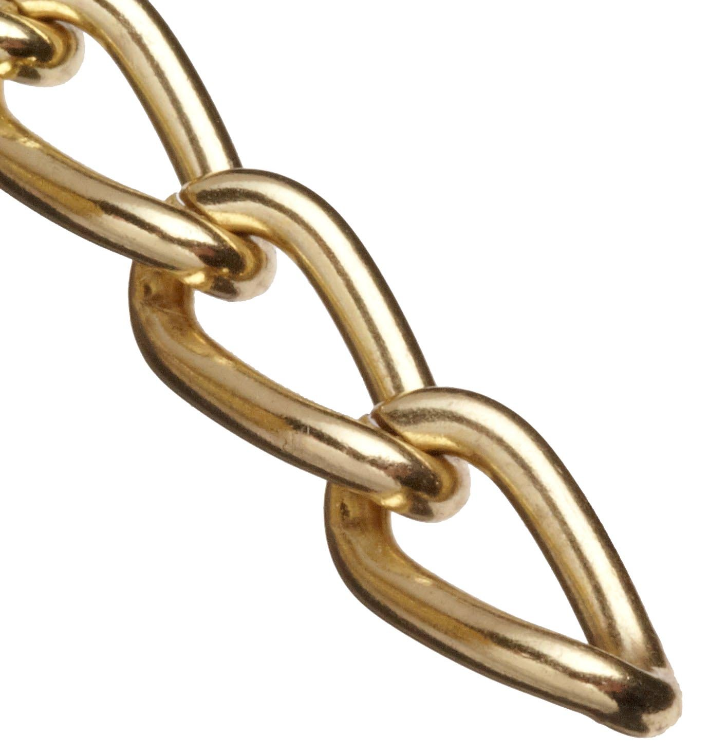 Campbell 0712017 Hobby and Craft Twist Chain, Brass Plated, #200 Trade, 0.079'' Diameter, 12 lbs Load Capacity, 49 Feet Mini Reel by Apex Tool Group