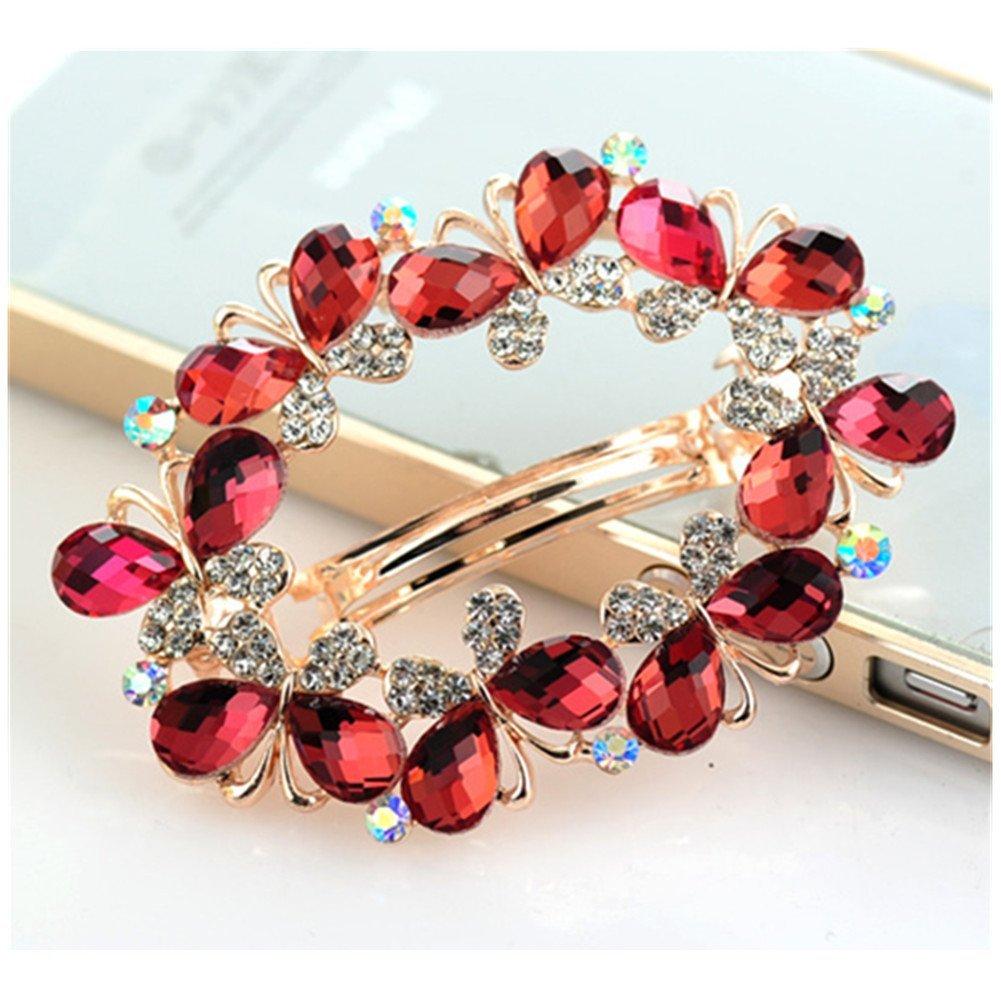 Casualfashion Bridal Hair Jewelry Austria Rhinestone Crystal Hair Barrette for Women Clips Hair Hairpins wf2016060212