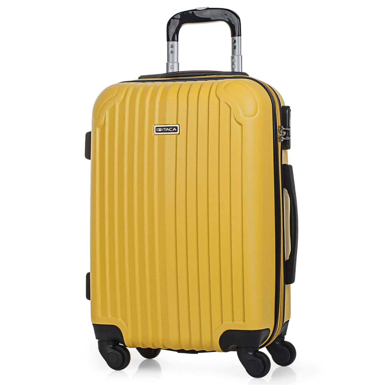 ITACA - Maleta de Viaje Cabina Rígida 4 Ruedas 55 cm Trolley ABS. Equipaje de Mano. Pequeña Resistente Cómoda y Ligera. Low Cost Ryanair. Estudiante. Calidad y Diseño. T715