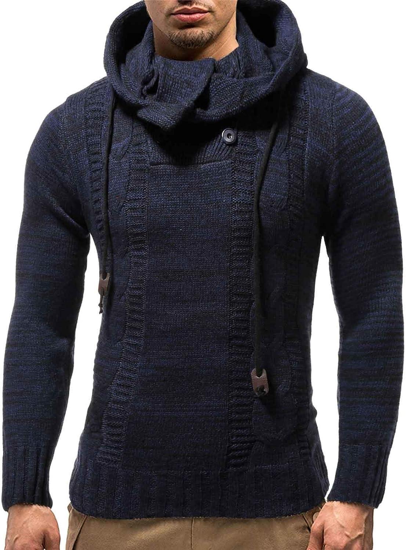 iHENGH Hommes Automne Hiver Pull Tricot/é Cardigan Manteau Pull /À Capuche Veste Outwear