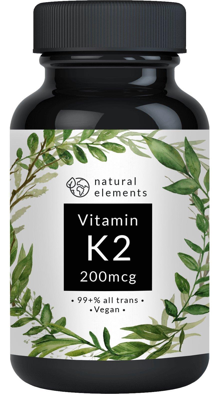 Vitamin K2 MK7-365 Kapseln à 200 µg - 99,7+% All-Trans - Premiumqualität: K2VITAL Delta von Kappa – Mikroverkapselt, hochdosiert, vegan und hergestellt in Deutschland product image