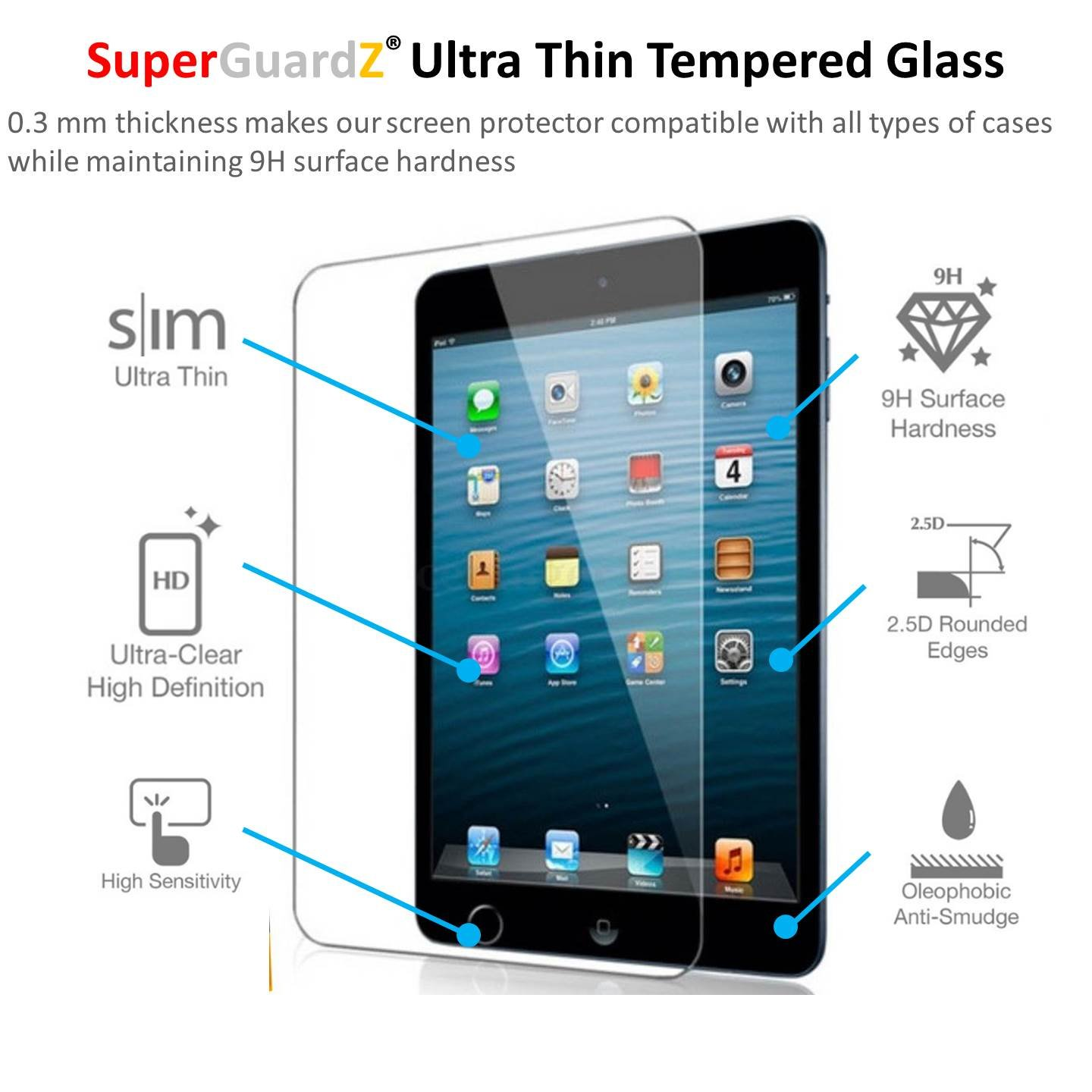 Surface pencil compatible tempered glass screen protector with 2 5d - Amazon Com 2 Pack For Ipad Pro 9 7 Superguardz Tempered Glass Screen Protector 9h 0 3mm 2 5d Round Edge Anti Scratch Anti Bubble