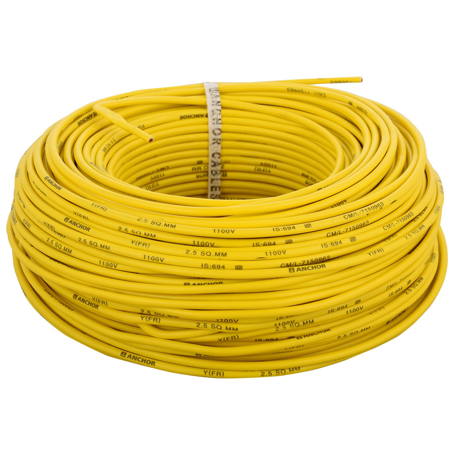 Cable buy electric cable 2 5 sq mm cable 1 5 sqmm wire product on - Anchor Insulated Copper Pvc Cable 2 5 Sq Mm Wire Yellow Amazon In Amazon In