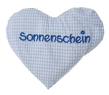 Cojín de calor con forma de corazón y texto en alemán, cojín ...