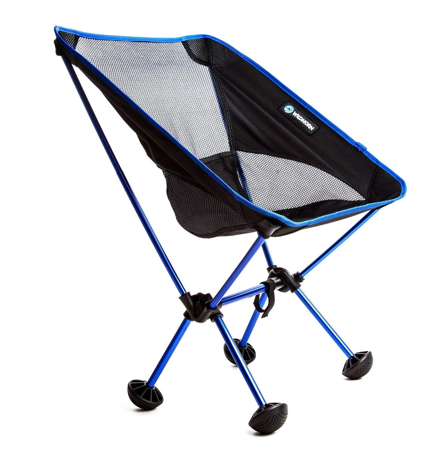 Terralite Portable Camp / Beach Chair Perfect For Beach, Camping, Backpacking, & Outdoor Festivals. Compact & Heavy Duty (Supports 350 lbs). Includes TerraGrip Feet- Won't Sink In the Sand or Mud. WildHorn Outfitters