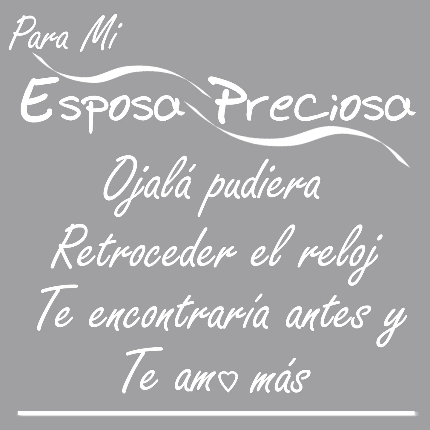 I Love My Wife Wall Decal Pledge-Espanol Para Mi Esposa Preciosa-a WHITE Vinyl Wall Decal-I Love You More in Spanish-A Happy Marriage-Shes the Best Freakin ...