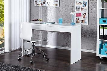 Design Schreibtisch Sensation Hochglanz Weiß 120cm Bürotisch Amazon
